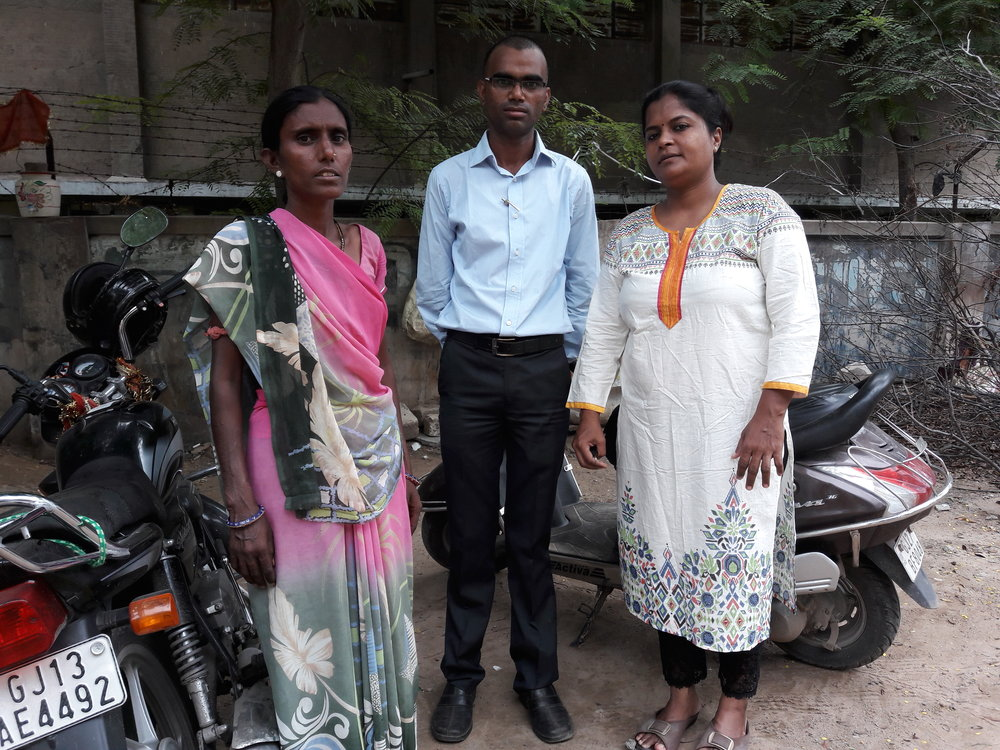 STREAM CAB members in Ahmedabad carry out home visits