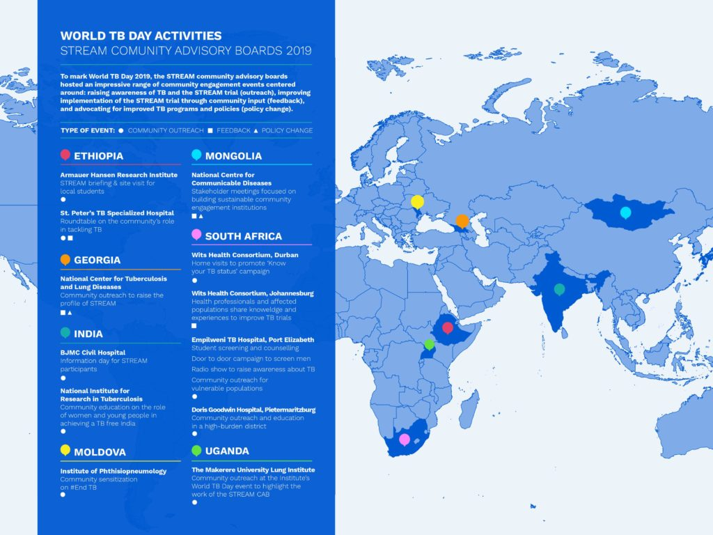 World TB Day map of activities